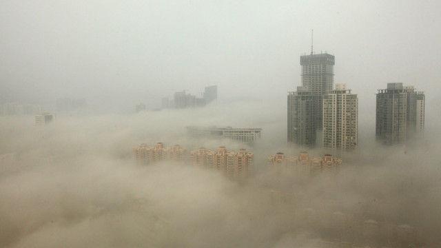 PM2.5の北京風景